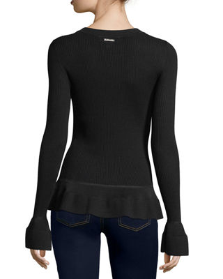 Image 2 of 2: Long-Sleeve Textured-Knit Top