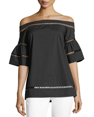 MICHAEL Michael Kors Off-the-Shoulder Trim Top