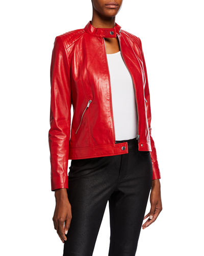 de4fb17e0 Quick Look. Neiman Marcus Leather Collection · Leather Moto Jacket ...
