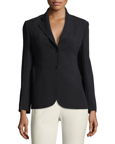 Theory Demitria 2 Admiral Crepe Flared-Leg Pants and