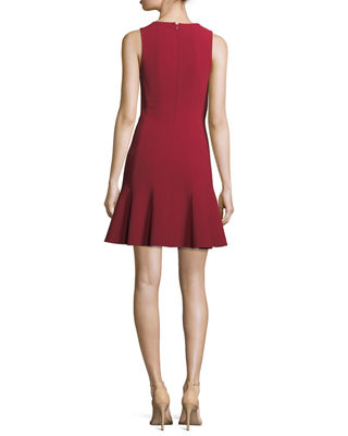 Image 2 of 3: Rooney Paneled Fit-and-Flare Dress