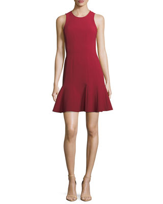 Image 1 of 3: Rooney Paneled Fit-and-Flare Dress