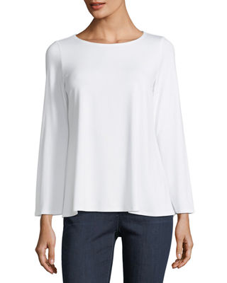 Image 1 of 2: Viscose Jersey Long-Sleeve Top