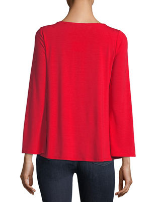 Image 2 of 2: Viscose Jersey Long-Sleeve Top