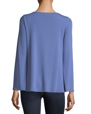 Image 2 of 2: Viscose Jersey Long-Sleeve Top, Petite
