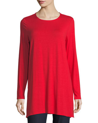 Image 1 of 2: Long-Sleeve Jersey Tunic