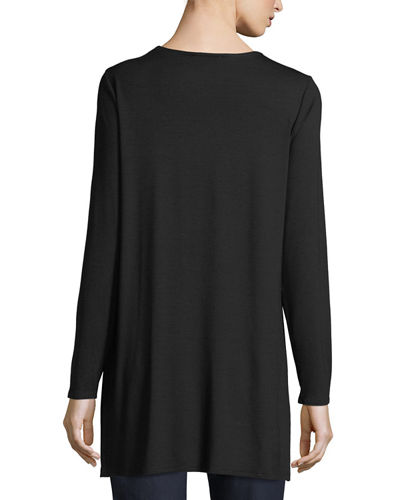 Long-Sleeve Jersey Tunic, Petite