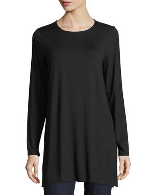 Eileen Fisher Long-Sleeve Jersey Tunic, Petite