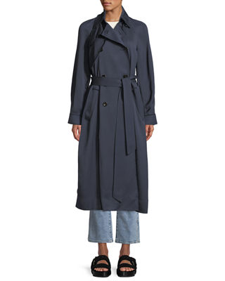 ELIZABETH AND JAMES DAKOTAH DOUBLE-BREASTED DRAPEY TRENCH COAT