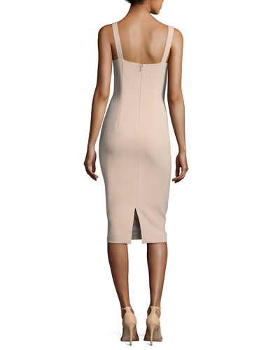 Nevyn Sleeveless Scuba Fitted Bustier Dress