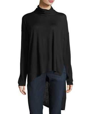 Eileen Fisher High-Low Ultrafine Merino Wool Top