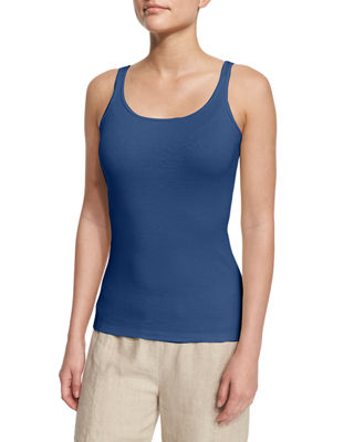 Eileen Fisher Long Organic Cotton Tank Top