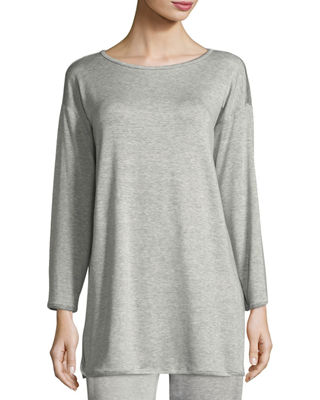 Terry Stretch Long-Sleeve Top, Plus Size