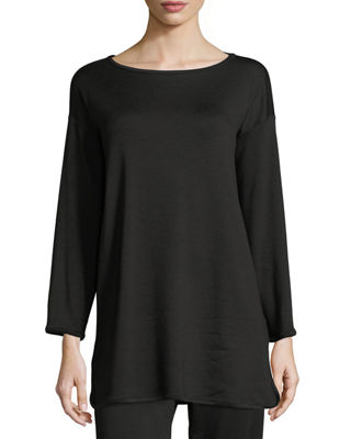 Eileen Fisher Terry Stretch Long-Sleeve Top, Petite