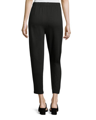 Image 2 of 3: Terry Slouchy-Stretch Tapered Pants, Petite