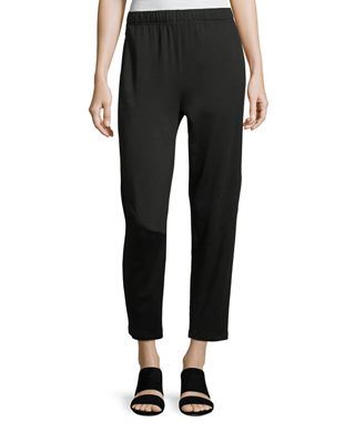 Terry Slouchy-Stretch Tapered Pants, Petite