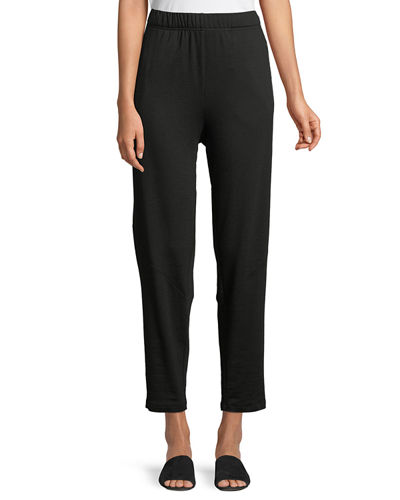 Eileen Fisher Terry Slouchy-Stretch Tapered Pants and Matching
