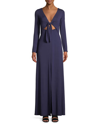 Image 3 of 4: Breeze Reversible Long-Sleeve Maxi Dress