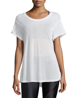 Koral Activewear Euphoria Scoop-Back Performance Jersey Top