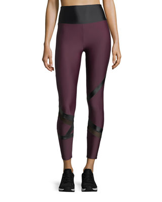 Lanston Grant Geo-Block Ankle Performance Leggings