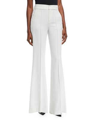 Alice + Olivia Dylan High-Waist Wide-Leg Pants w/