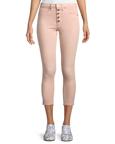 Debbie Button-Fly Cropped Jeans