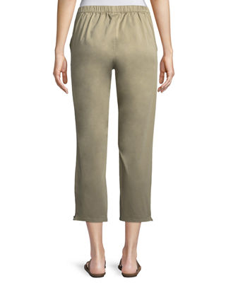 Image 2 of 4: Padme Cotton Stretch Cropped Chino Pants