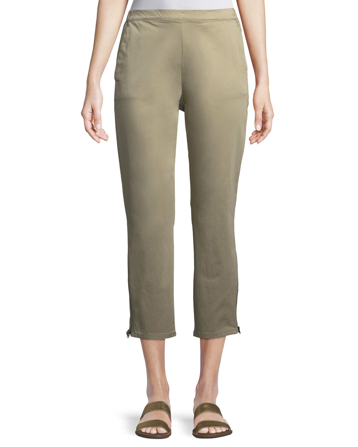 Padme Cotton Stretch Cropped Chino Pants