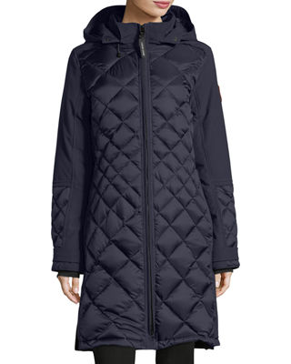 Canada Goose Diamond-Quilted Hooded Cabot Parka Jacket