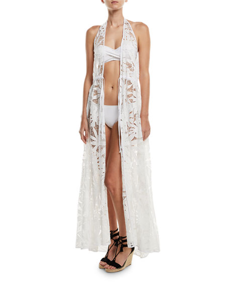 Milly  KATRINA CROCHET LACE MAXI COVERUP