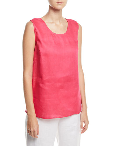 Caroline Rose Petite Tissue-Linen Long Tank Top