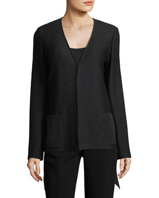 St. John Collection Hannah Knit A-line Jacket