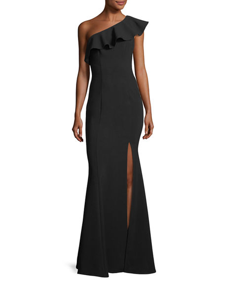 Image 1 of 2: Likely Kane Asymmetric Ruffle Mermaid Gown