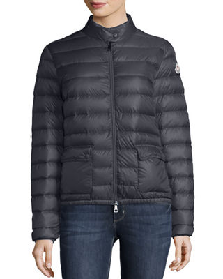 Lans Collared Down Jacket in Navy