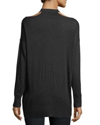 Image 2 of 2: Canarise Cutout Cashmere-Blend Sweater