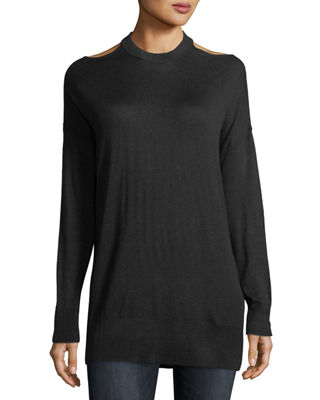 Image 1 of 2: Canarise Cutout Cashmere-Blend Sweater