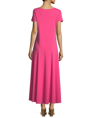 Image 3 of 3: Cotton Interlock Scoop-Neck Maxi Dress