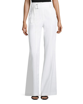 Foster Flared-Leg Crepe Pants