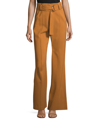 A.L.C. Foster Flared-Leg Crepe Pants