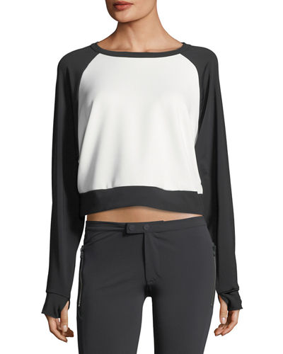 Blanc Noir Crewneck Long-Sleeve Lounge Sweatshirt