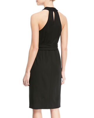 Image 2 of 2: Belted Knee-Length Wrap Dress