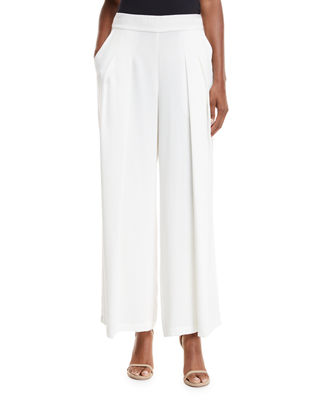 Corded Wide-Leg Drama Pants