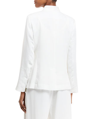 Image 2 of 2: Corded Tencel® Simple Blazer, Plus Size