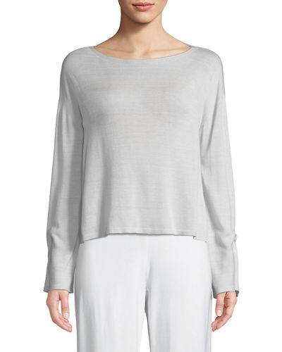 Seamless Sleek Bell-Sleeve Top