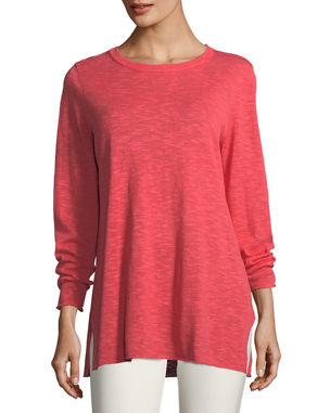 c328e9db486cc Eileen Fisher Easy Long-Sleeve Pullover Tunic