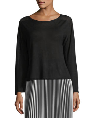 Eileen Fisher Seamless Sleek Bell-Sleeve Top, Plus Size