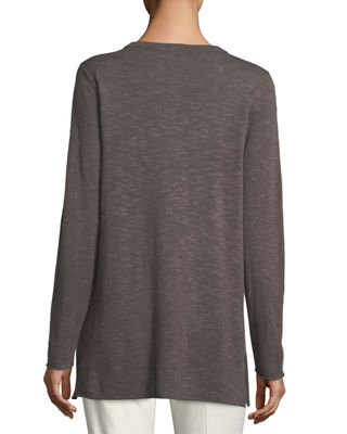 Image 2 of 2: Easy Long-Sleeve Pullover Tunic, Petite