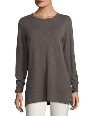 Image 1 of 2: Easy Long-Sleeve Pullover Tunic, Petite
