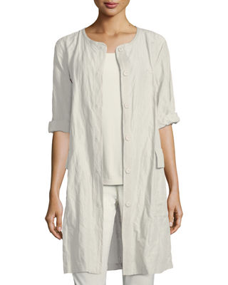 Eileen Fisher Rumpled Organic Cotton Jacket