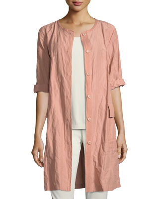 Eileen Fisher Rumpled Organic Cotton Jacket and Matching